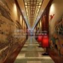 Chinese Antiquity Corridor Interior Scene