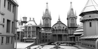European Castle Church 3dsMax Model Free 3dsMax Free