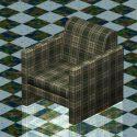 Plaid Club Chair