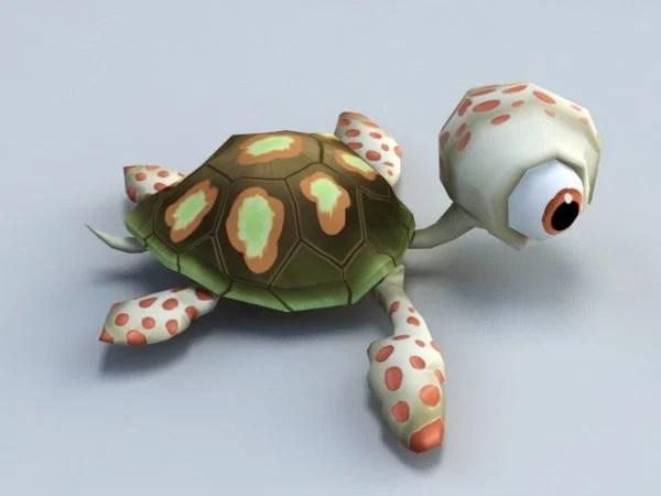 Animated Baby Tortoise Cartoon