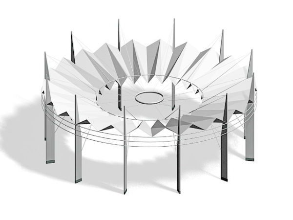 Modern Silver Pergola