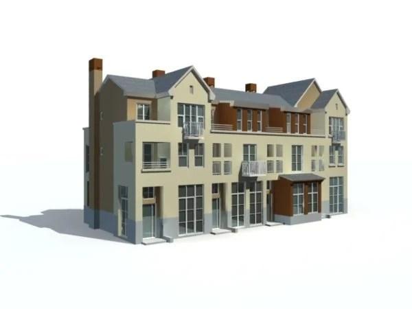 Three Story Villa Building
