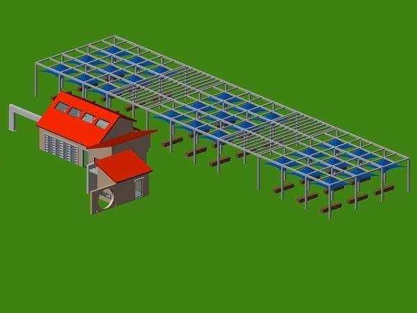 Landscape Plaza Canopy Structure