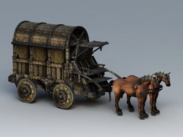 Old Horse Drawn Carriage Wagon