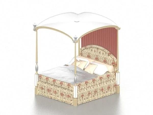 łóżko Z Baldachimem Teen Girl 3ds Max Model Pobierz Za