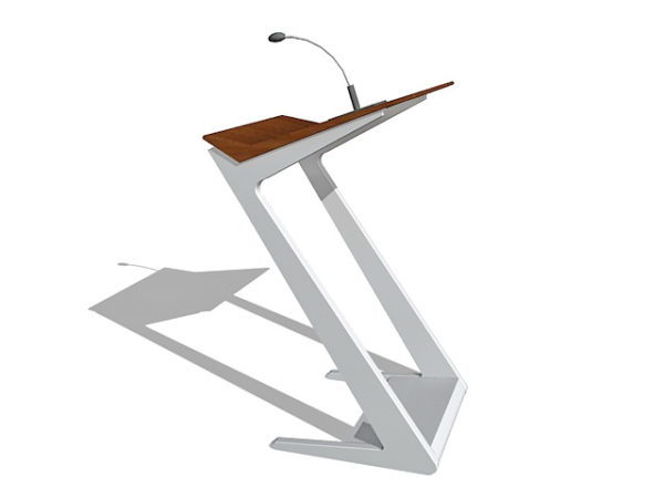 Office Lectern With Microphone