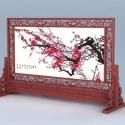アンティーク中国彫刻スクリーン