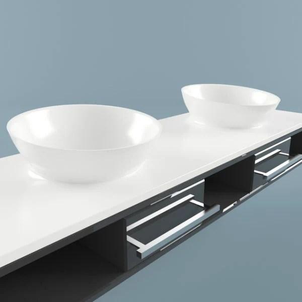 modern vessel sink vanity free 3d model