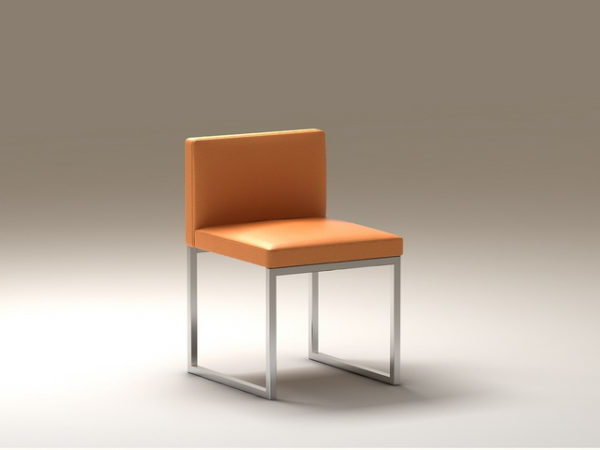 Superb Modern Leather Cube Chair Free 3Ds Max Model Max Machost Co Dining Chair Design Ideas Machostcouk