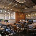 Retro China Restaurant Design Interior Scene