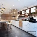 Nordic Style Fast Food Store Interior Scene