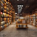 Bookmall Bookstore Interior Scene