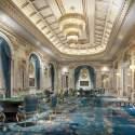 Antique European Style Big Conference Room Interior Scene