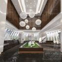 Chinese Modern Style Real Estate Showcase Interior Scene