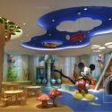 Kindergarten Playground Interior Scene