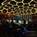 Dark Style Entertainment Gaming Room Interior Scene