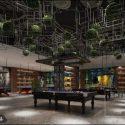 Billiard Shop Interior Scene