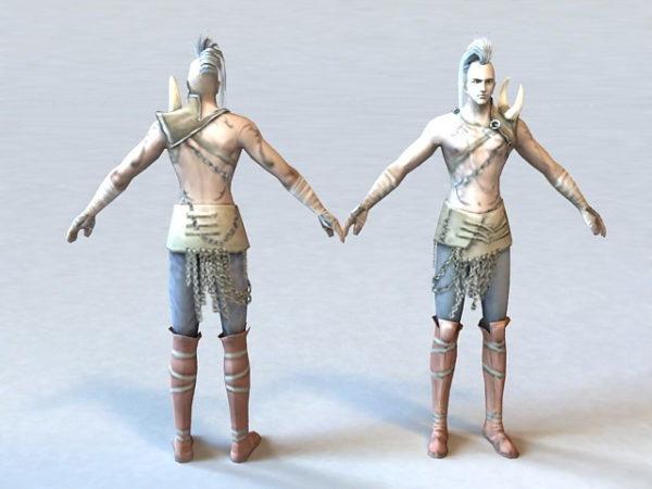Barbarian Warrior Character
