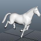 الرسوم المتحركة الجري الحصان