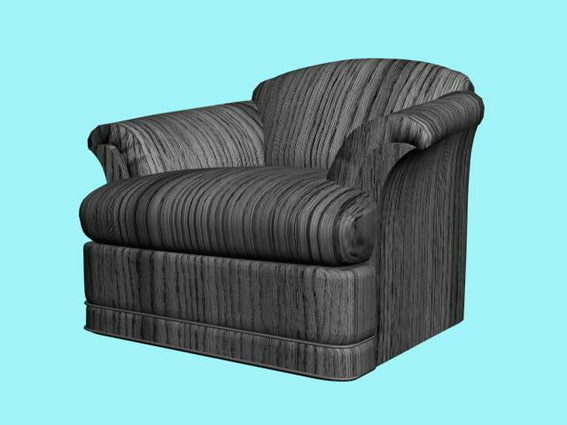 Fantastic Dark Striped Sofa Chair Free 3Ds Max Model 3Ds Max Andrewgaddart Wooden Chair Designs For Living Room Andrewgaddartcom