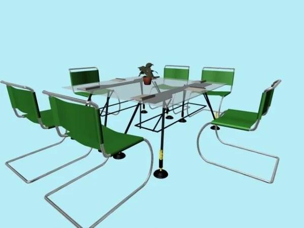 Glass Conference Furniture Sets