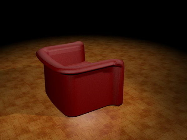 Fine Red Tub Sofa Free 3Ds Max Model Max Vray Open3Dmodel Bralicious Painted Fabric Chair Ideas Braliciousco