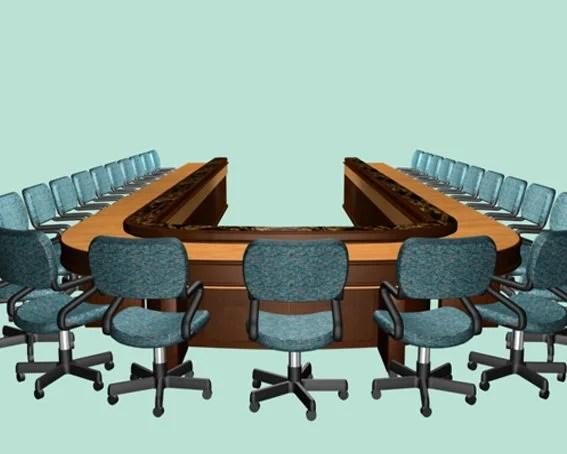 U Shaped Conference Room Furniture Set