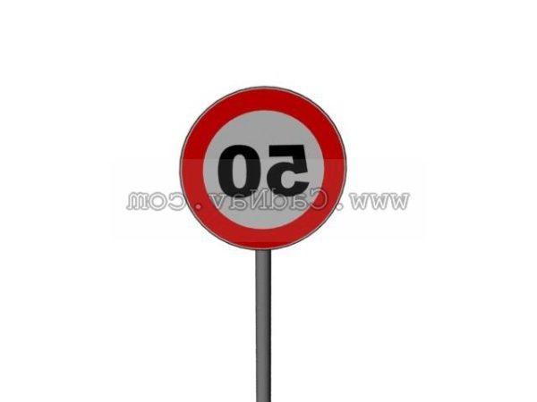 Señal de carretera de límite de velocidad de 50 Kmh