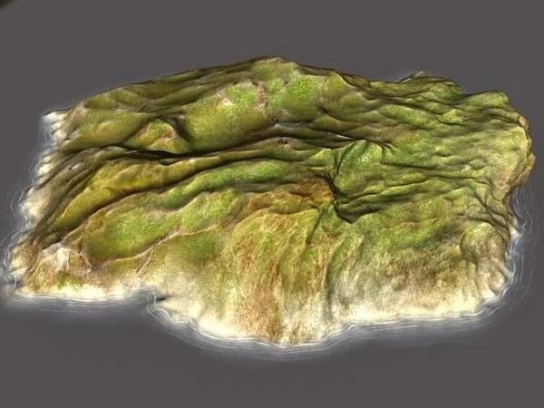Barren Island Landscape Scene