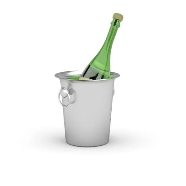 Cubo de hielo de Champagne