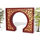 Chinese Retro Garden Door