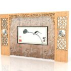 Chinese Decor Style Accent Wall