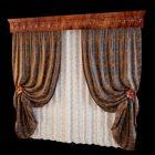 Embroidery Style Floor Length Window Drapery