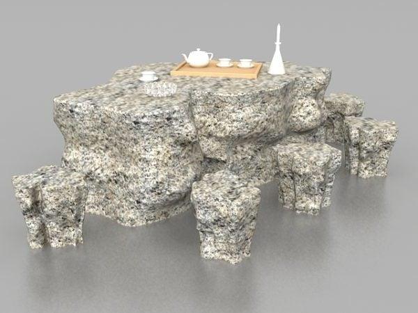 Garden Stone Furniture Table Stools