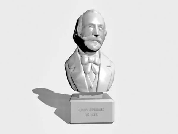 Busto antiguo de Giuseppe Verdi