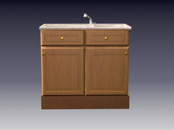 https open3dmodel com 3d models 3d model wooden kitchen sink cabinet 187188 html