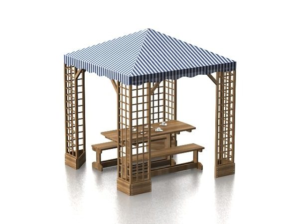 outdoor patio canopy gazebo free 3d