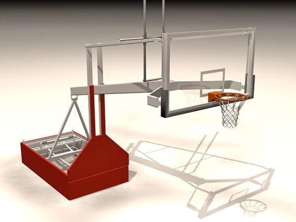 Backstop portátil de baloncesto deportivo