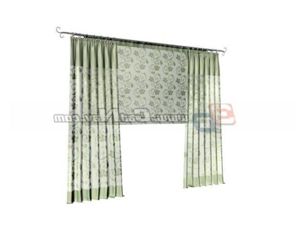Unique Kitchen Window Curtain Free 3ds Max Model - .Max ...
