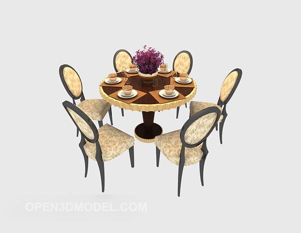 table a manger ronde pour 5 personnes