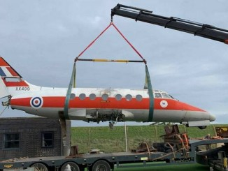 Jetstream plane converted into clamping accommodation