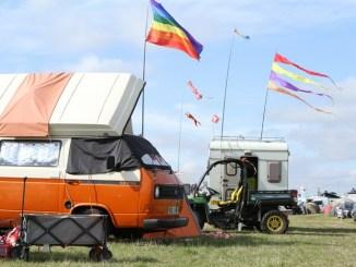 Campervan at Towersey Festival