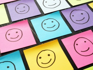 Smiley faces on post-it notes