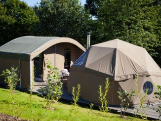 Jersey Zoo tents