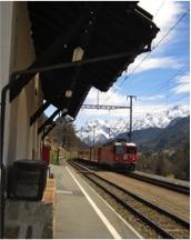 Romantic Swiss rail