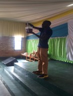 Preaching using Chemical cross at a school.