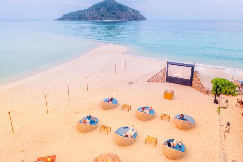 AIRSCREEN am Strand in Indonesien