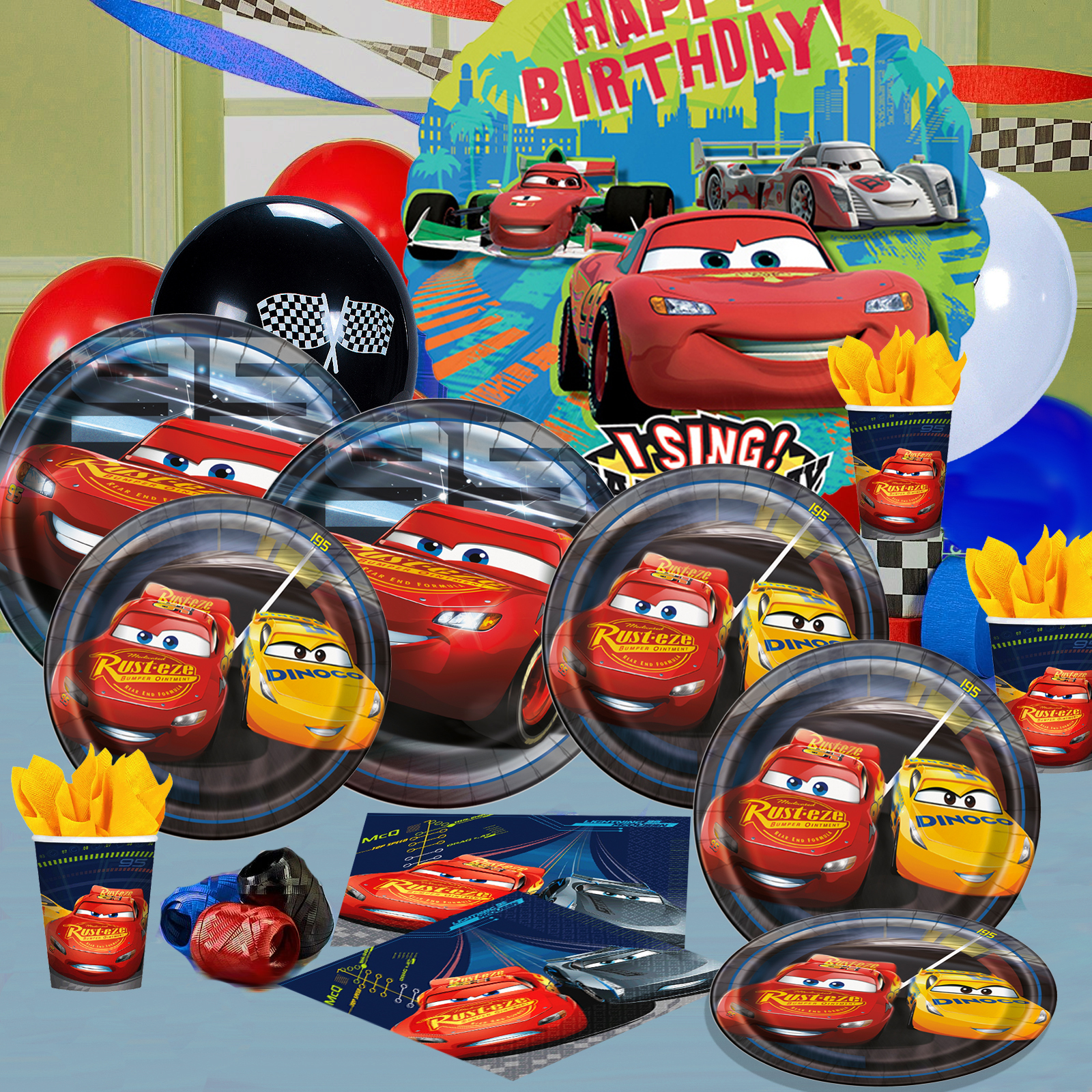 Disney Pixar Cars Birthday Decorations Tableware Create Your Own Party Pack Greeting Cards Party Supply Party Supplies