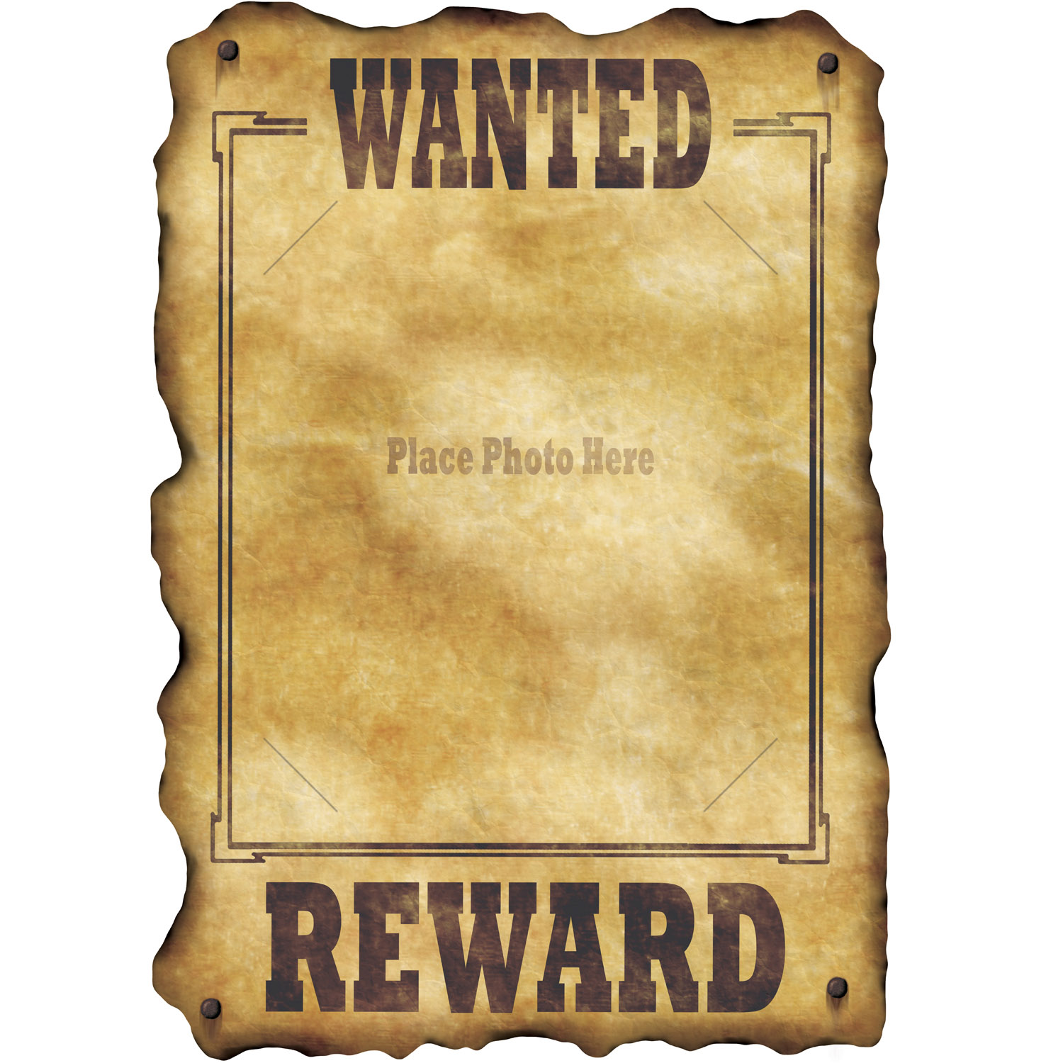 Western Jumbo 17 Wanted Photo Sign Party Supplies Canada