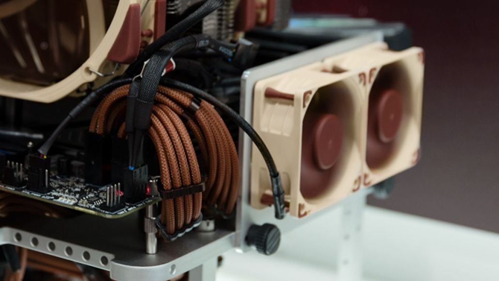 2x NOCTUA NF-A6x25 PWM mounted on the custom VRM fan bracket